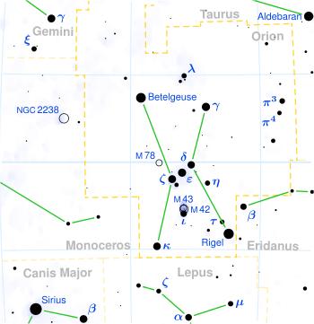 オリオン座星図